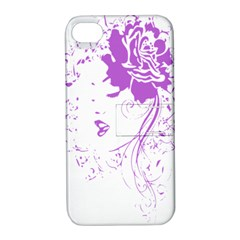 Purple Woman Of Chronic Pain Apple Iphone 4/4s Hardshell Case With Stand by FunWithFibro
