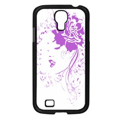Purple Woman Of Chronic Pain Samsung Galaxy S4 I9500/ I9505 Case (black) by FunWithFibro