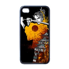 Samurai Rise Apple Iphone 4 Case (black) by Contest1889920