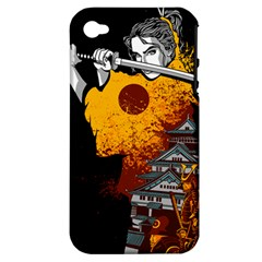 Samurai Rise Apple iPhone 4/4S Hardshell Case (PC+Silicone) by Contest1889920