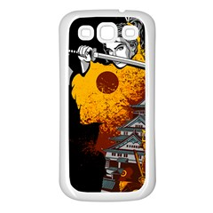 Samurai Rise Samsung Galaxy S3 Back Case (white) by Contest1889920