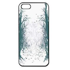 the Woods Beckon  Apple Iphone 5 Seamless Case (black) by Contest1891613