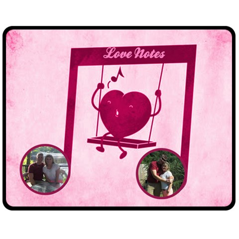Love Notes Medium Blanket By Joy Johns   Fleece Blanket (medium)   Uwr7foymfqku   Www Artscow Com 60 x50 Blanket Front