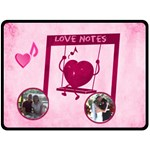 Love Notes large blanket - Fleece Blanket (Large)