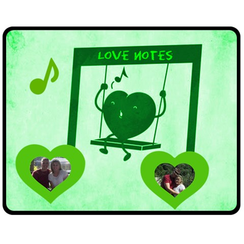 Love Notes Medium Blanket By Joy Johns   Fleece Blanket (medium)   E77eaesomviy   Www Artscow Com 60 x50 Blanket Front