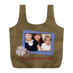 Mothers Day By Mom   Full Print Recycle Bag (l)   Bcbicdpb7pch   Www Artscow Com Front