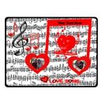 Love Song small music blanket - Fleece Blanket (Small)