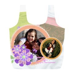 Mothers Day By Mom   Full Print Recycle Bag (l)   Xnt1gd15oevz   Www Artscow Com Front