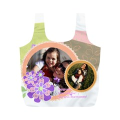 Mothers Day By Mom   Full Print Recycle Bag (m)   Ki9ikt9ja23q   Www Artscow Com Front