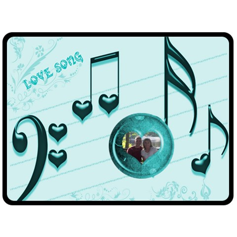 Love Song Large Blanket #3 By Joy Johns   Fleece Blanket (large)   775pgzf2ugpy   Www Artscow Com 80 x60 Blanket Front