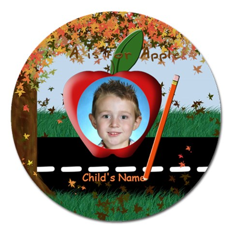Fall Round 5 Inch Magnet By Chere s Creations   Magnet 5  (round)   Tqna2rvzz22p   Www Artscow Com Front