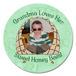 Sweet Honey Bees Round 5 inch Magnet - Magnet 5  (Round)