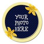 Yellow Lily Round 5 inch Magnet - Magnet 5  (Round)