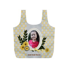 Full Print Recycle Bag (s)   Happiness3 By Jennyl   Full Print Recycle Bag (s)   4b7wdaya8gij   Www Artscow Com Front