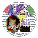 First Birthday 5 inch Magnet - Magnet 5  (Round)