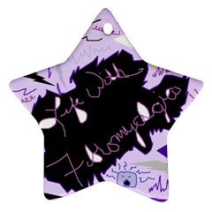 Life With Fibromyalgia Star Ornament by FunWithFibro
