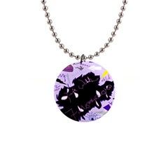 Life With Fibromyalgia Button Necklace