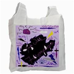 Life With Fibromyalgia White Reusable Bag (one Side) by FunWithFibro