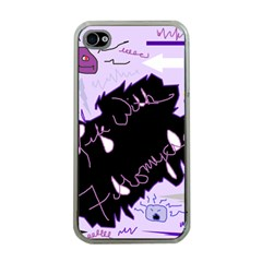Life With Fibromyalgia Apple Iphone 4 Case (clear) by FunWithFibro