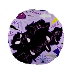 Life With Fibromyalgia 15  Premium Round Cushion  by FunWithFibro