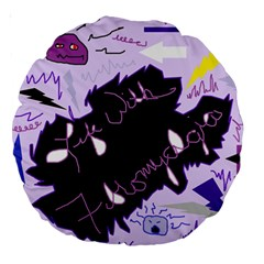 Life With Fibromyalgia 18  Premium Round Cushion  by FunWithFibro