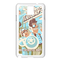 Nerdcorps Samsung Galaxy Note 3 N9005 Case (white) by Contest1889920