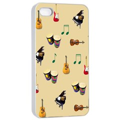 Music Apple Iphone 4/4s Seamless Case (white) by Contest1852090