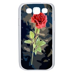Long Stem Rose Samsung Galaxy S III Case (White) by Contest1852090