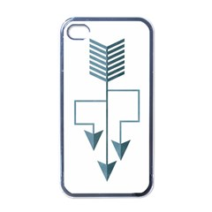 Arrow Paths Apple Iphone 4 Case (black) by Contest1888309