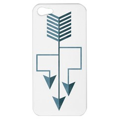 Arrow Paths Apple Iphone 5 Hardshell Case by Contest1888309