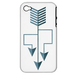 Arrow Paths Apple Iphone 4/4s Hardshell Case (pc+silicone) by Contest1888309