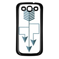 Arrow Paths Samsung Galaxy S3 Back Case (Black) by Contest1888309