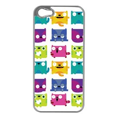 Cats Apple Iphone 5 Case (silver) by Contest1771913