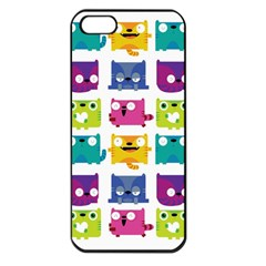 Cats Apple iPhone 5 Seamless Case (Black) by Contest1771913