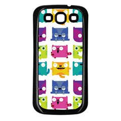 Cats Samsung Galaxy S3 Back Case (black) by Contest1771913