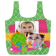 Easter By Easter   Full Print Recycle Bag (xl)   Hqbewjnwrjyq   Www Artscow Com Back