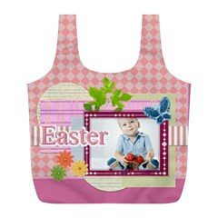 Easter By Easter   Full Print Recycle Bag (l)   Xvnle4mjm2st   Www Artscow Com Front