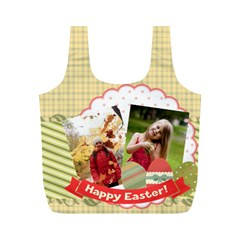 Eater By Easter   Full Print Recycle Bag (m)   Jg7uq0mg8uao   Www Artscow Com Back