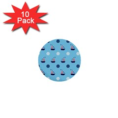 Summer Sailing 1  Mini Button (10 Pack)