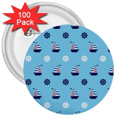 Summer Sailing 3  Button (100 Pack) by StuffOrSomething