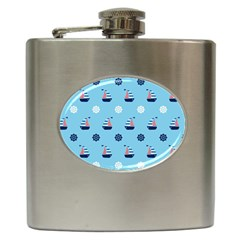 Summer Sailing Hip Flask by StuffOrSomething