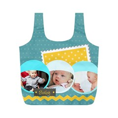 Baby By Baby   Full Print Recycle Bag (m)   Kj4czwa8juo7   Www Artscow Com Front