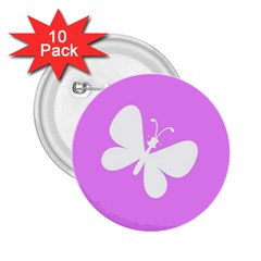 Butterfly 2 25  Button (10 Pack)