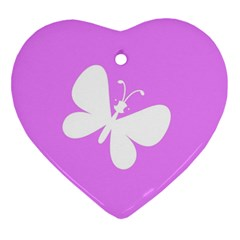 Butterfly Heart Ornament (two Sides) by Colorfulart23