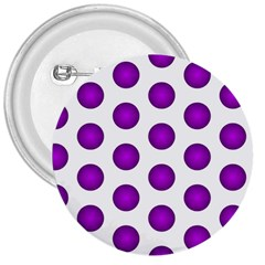 Purple And White Polka Dots 3  Button by Colorfulart23