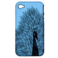 Flaunting Feathers Apple Iphone 4/4s Hardshell Case (pc+silicone) by Contest1893972