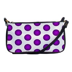 Purple And White Polka Dots Evening Bag by Colorfulart23