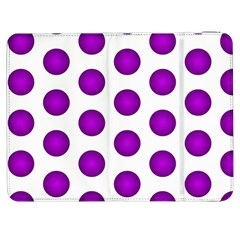 Purple And White Polka Dots Samsung Galaxy Tab 7  P1000 Flip Case