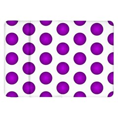Purple And White Polka Dots Samsung Galaxy Tab 8 9  P7300 Flip Case
