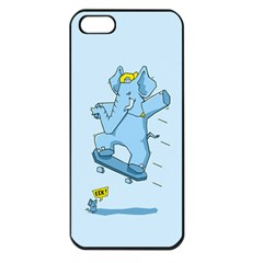 The Ollie-phant Apple iPhone 5 Seamless Case (Black) by Contest1893972